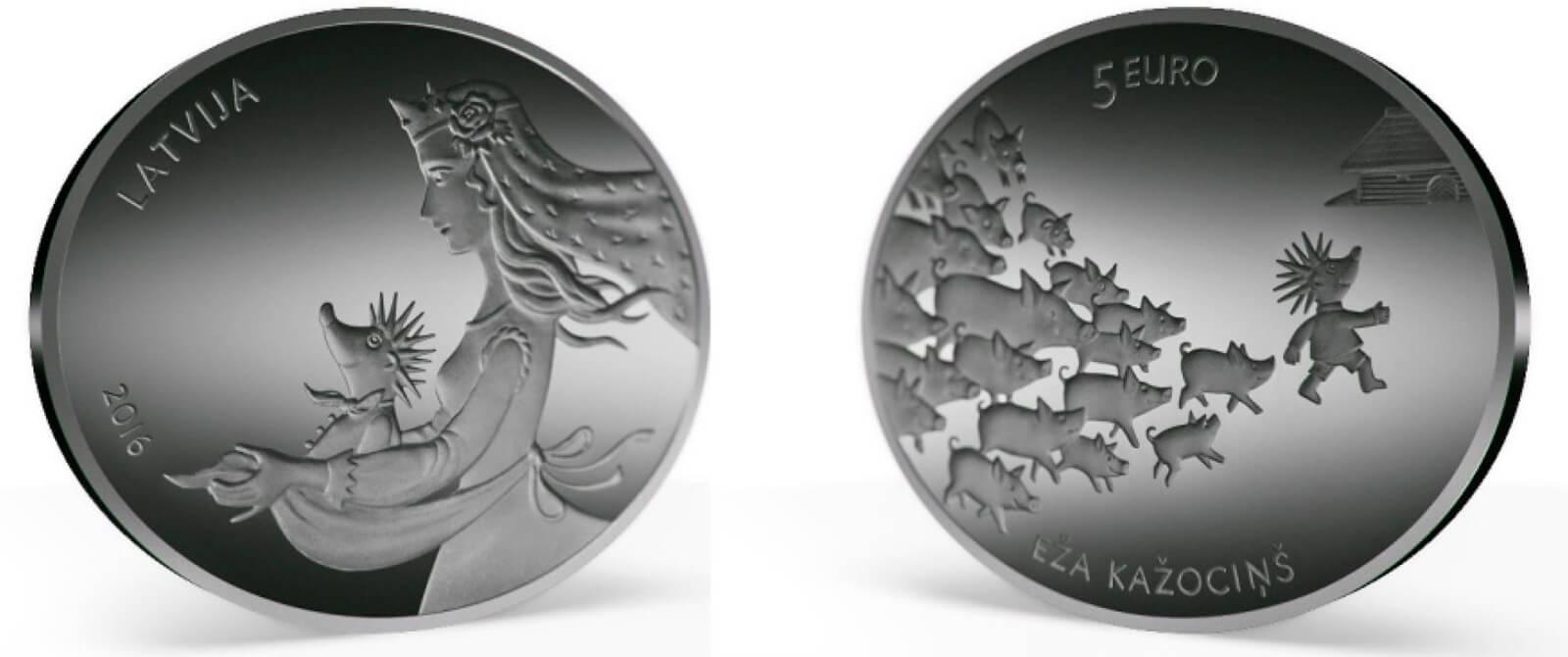 Latviška penkių eurų moneta